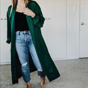 A New Day Emerald Green Kimono